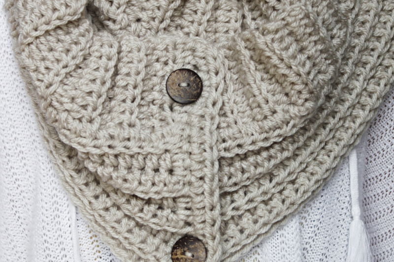 The Andy Button Scarf Pattern | Crochet bufanda