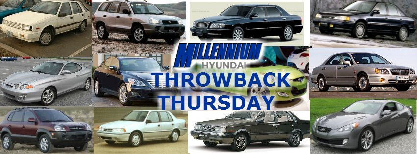 Throwbackthursday To The Max Today At Millennium Hyundai Top Row Left To Right Hyundai Pony 1975 Hyund Hyundai Models Hyundai Veloster Hyundai Azera
