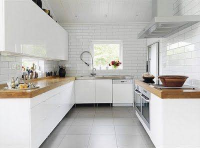 Cocinas modernas blancas cocina pinterest for Cocinas modernas blancas 2016
