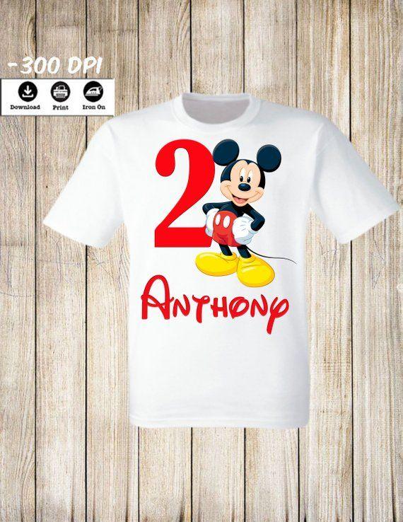 d3350027b Mickey Mouse Iron On transfer Disney Mickey Mouse Birthday Boy iron on shirt.  Mickey Mouse Birthday