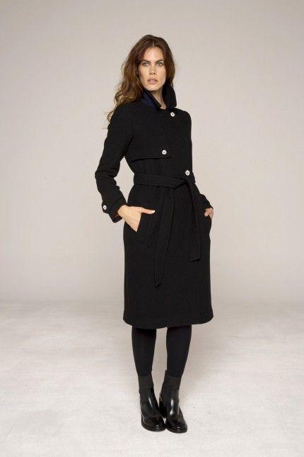 6983fc8b830c4 Long manteau noir ceinturé en alpaga  manteau  long  noir  ceinturé  alpaga   femme  qualité  lenerfabriquedemanteaux