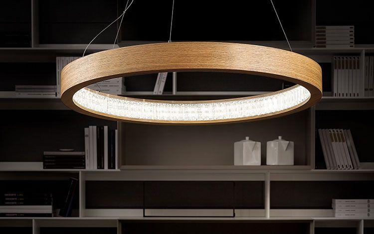 Lampadari in legno moderni dal design contemporaneo complementi d
