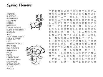 spring flowers word search | Grade 1 | Pinterest | Words, Spring ...