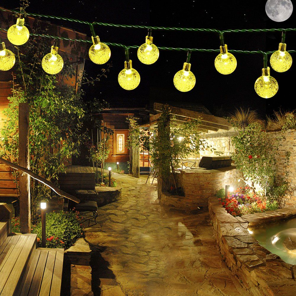 Apex Christmas Solar String Lights 30led 21ft 8 Modes Waterproof Outdoor Indoor Decorative For Patio Lawn Garden Home Holiday Party Xmas Tree