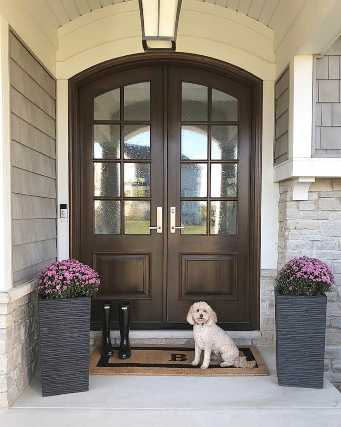 My Arched Real Wood Double Doors: Pros and Cons | Caroline on Design