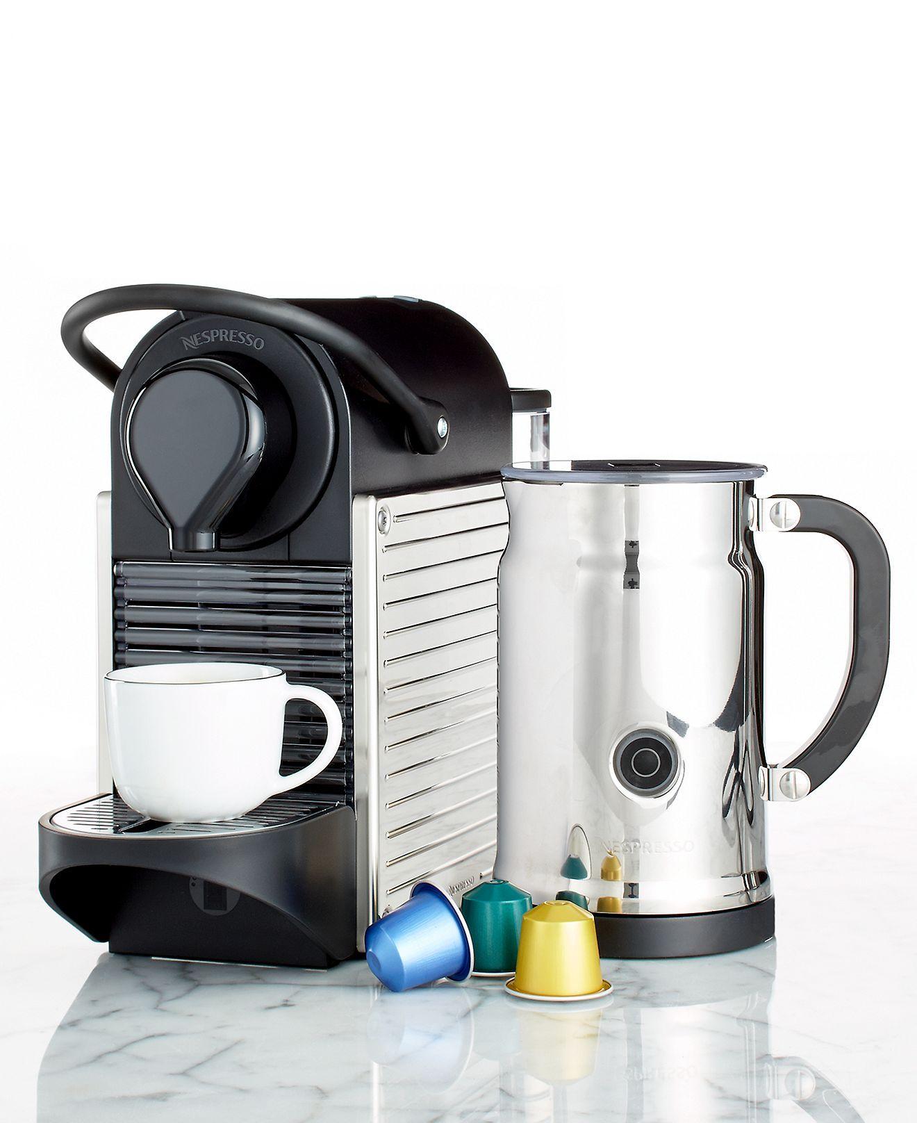 Nespresso C60/D60 Espresso Maker, Pixie Bundle Coffee