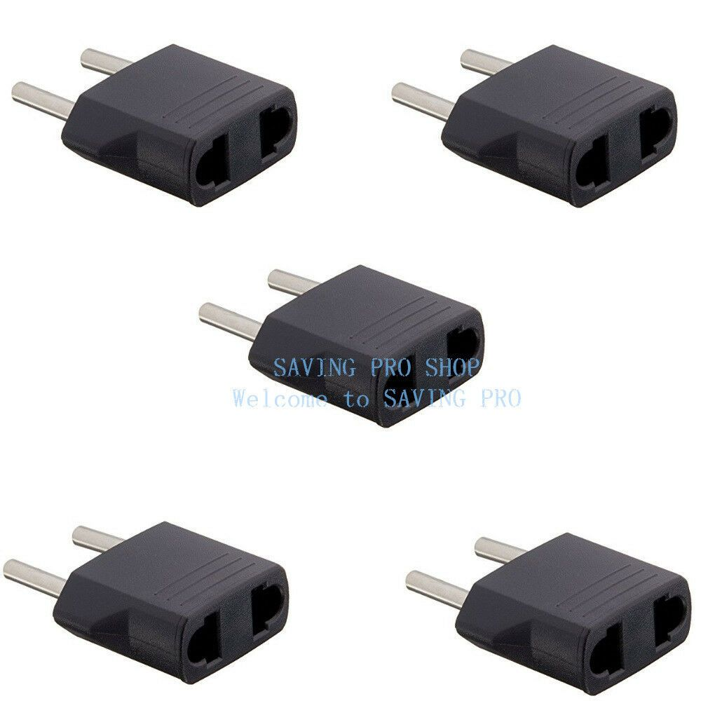 New EU Euro Europe to US USA Power Jack Wall Plug Converter Travel Adapter Us
