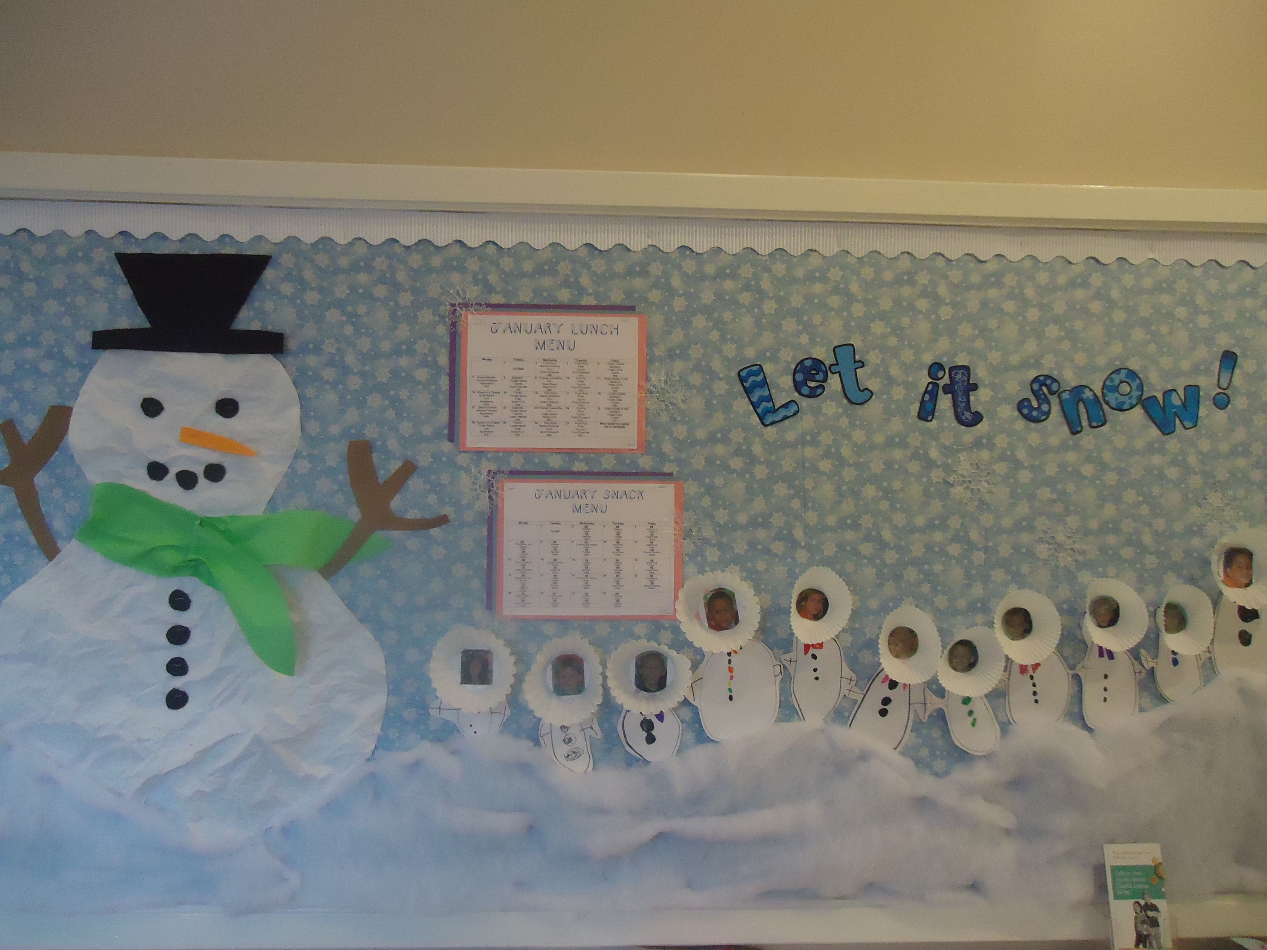Let It Snow Bulletin Board For Winter Make A Large