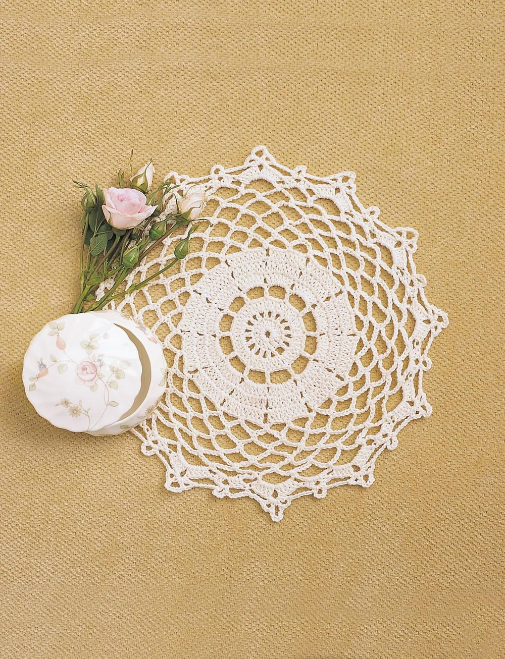 Pretty crochet doily pattern doilies crochet crochet doily create a lovely lace doily with this intermediate crochet pattern to add a fancy touch to bankloansurffo Choice Image