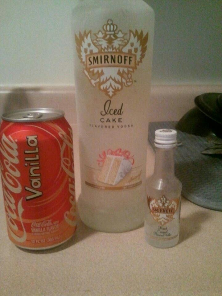 Caramel iced vanilla cake 1 1 12 shot Smirnoff Iced Cake Vodka 1