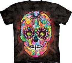 Halloween Fancy Dress Skull Dead Giorno Dia De Los Muertos Maglia Top