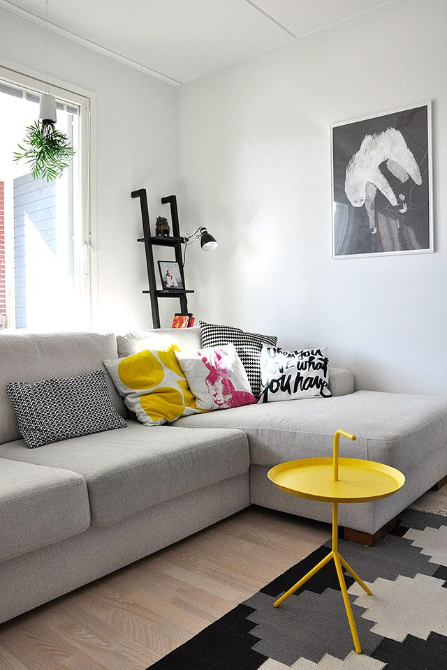 Via Life Thru a Lens | Hay DLM | Oyoy Pillow | Grey and Yellow