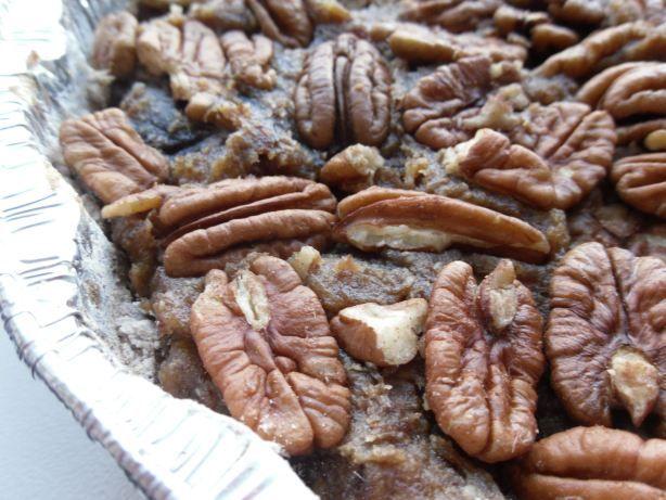 Raw pecan pie dessert