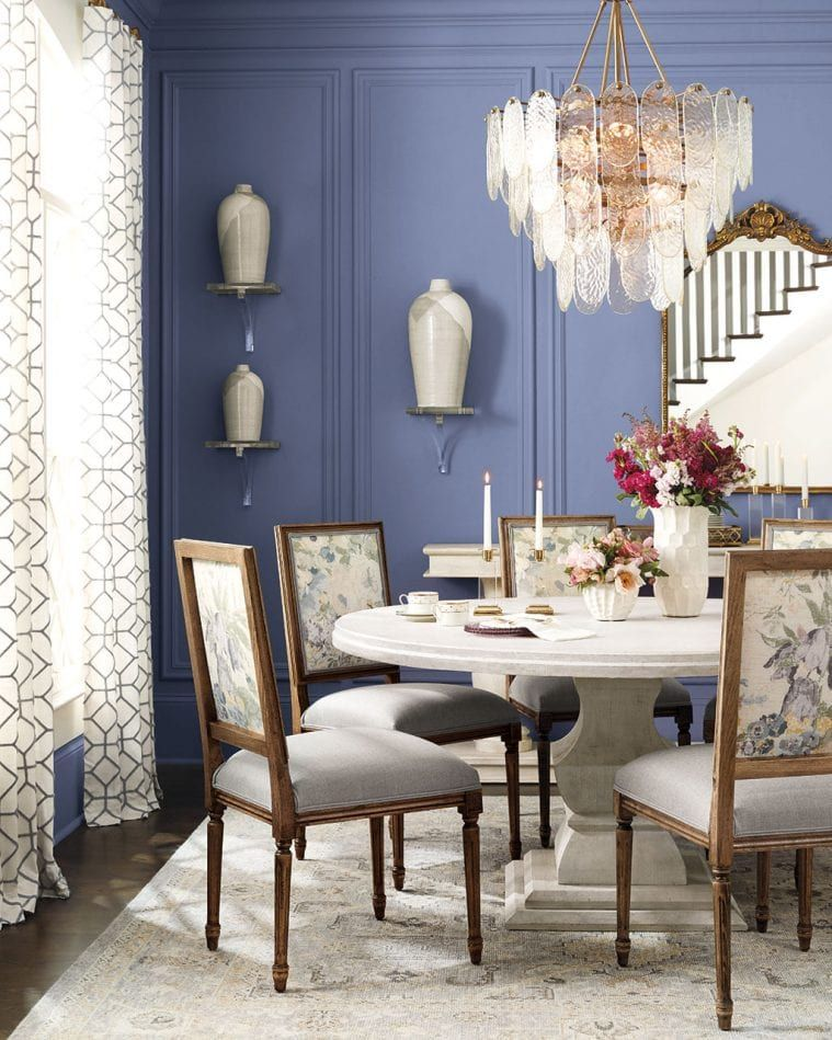 10 Things Every Room Needs How To Decorate Decor Dark Blue Dining Room Ballard Designs