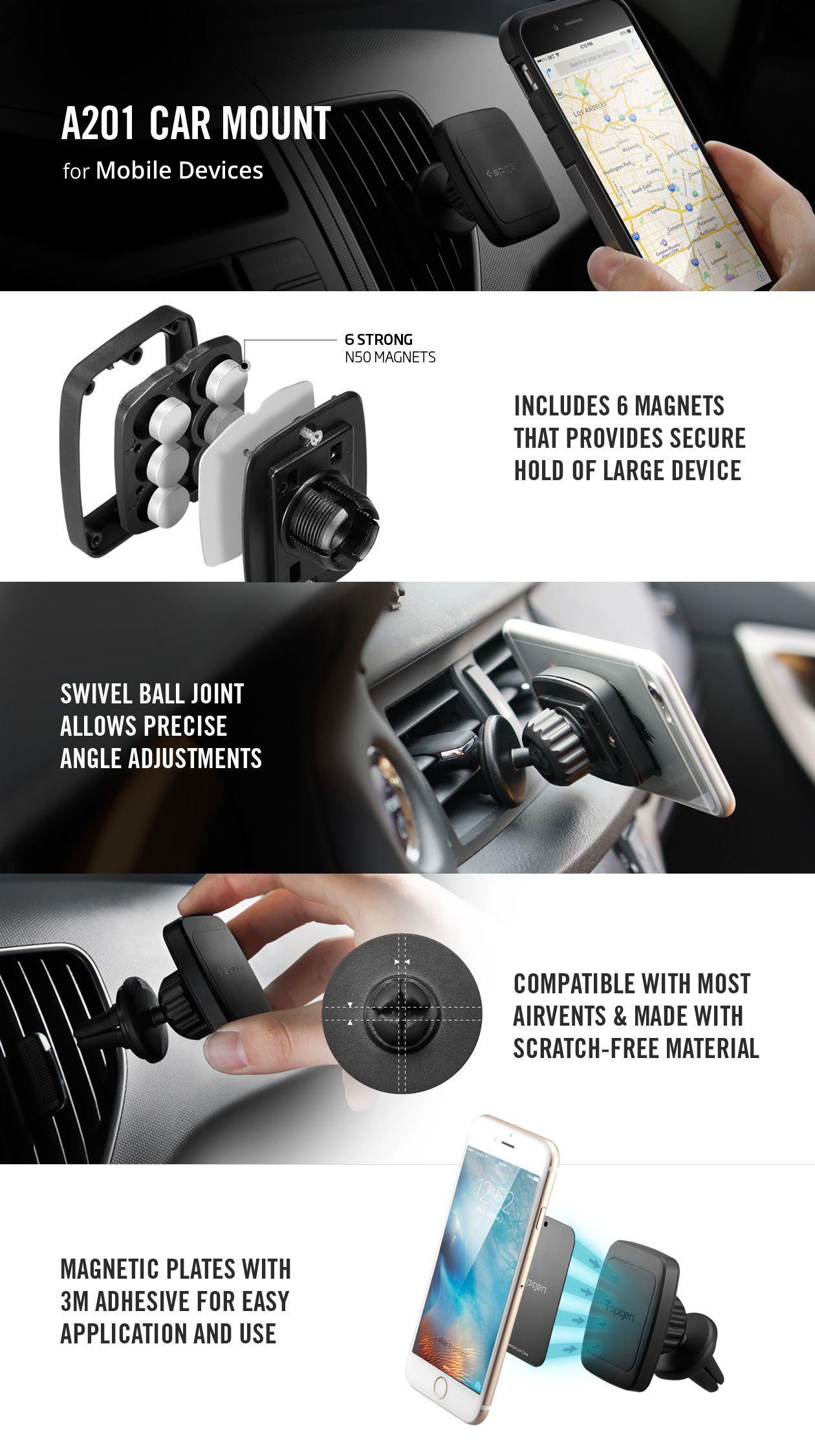 promo code 1b3db 9e30e Spigen Kuel® H12 Hexa-Core Magnetic Air Vent Car Mount | Staff ...