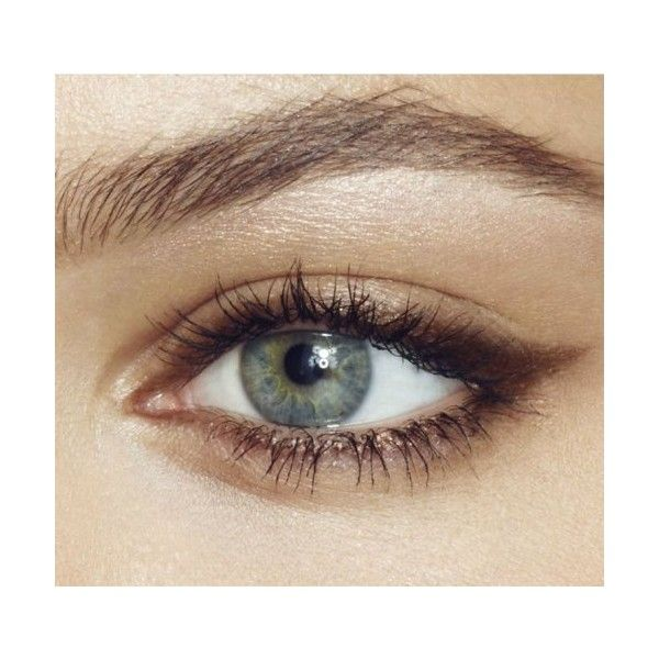 simple-soft-autumn-makeup-with-brown-eyeliner.jpg (500×467) ❤ liked on Polyvore featuring beauty products, makeup and eye makeup