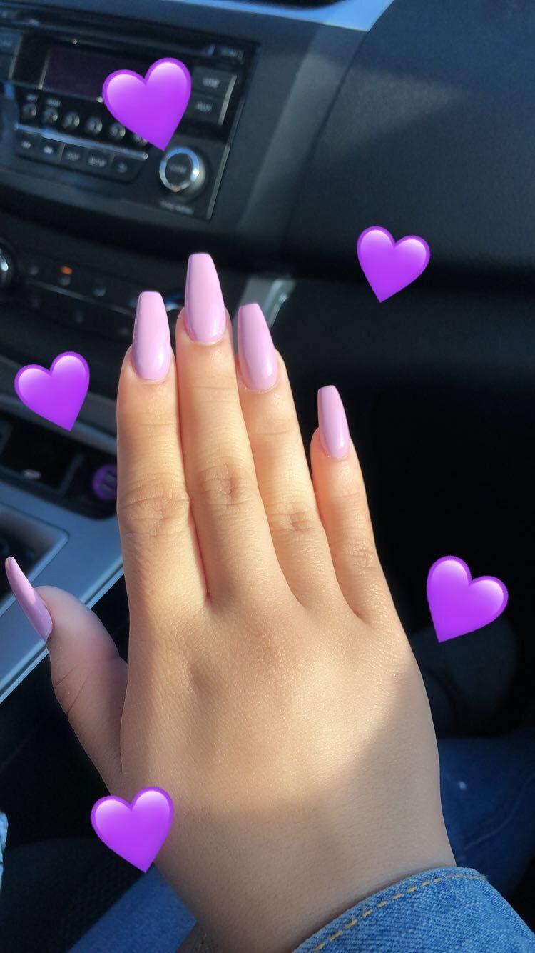 Lavender Coffin Nails Freakin Beautiful Unhas Roxas Gel Unhas Unhas Coloridas