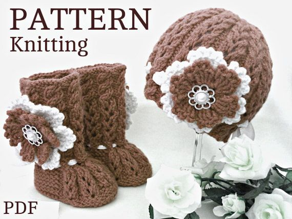 Knitting PATTERN Baby Booties Baby Shoes Patterns Knit Baby | Mis ...