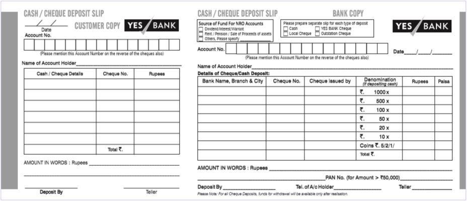 Bank Deposit Slip Template Pdf Bank Deposit Deposit Bank