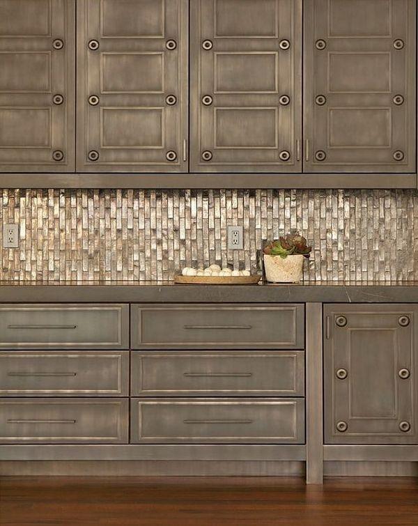 metal kitchen backsplash tiles ideas contemporary kitchen design - Metal Kitchen Backsplash Tiles Ideas Contemporary Kitchen Design