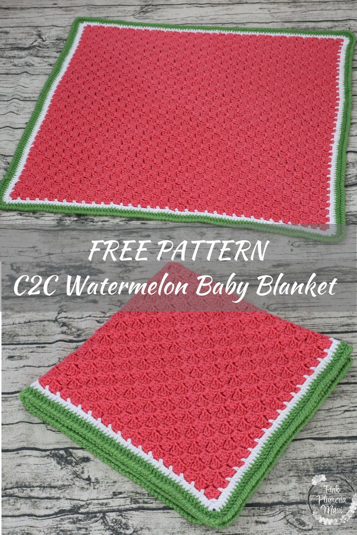 Crocheted Watermelon C2c Baby Blanket Crochet Häkeln Amigurumi