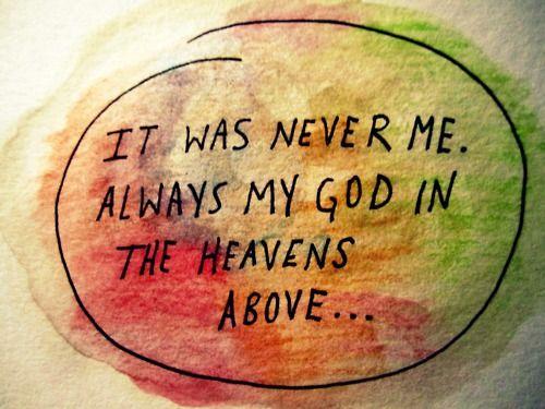 It's always Him.