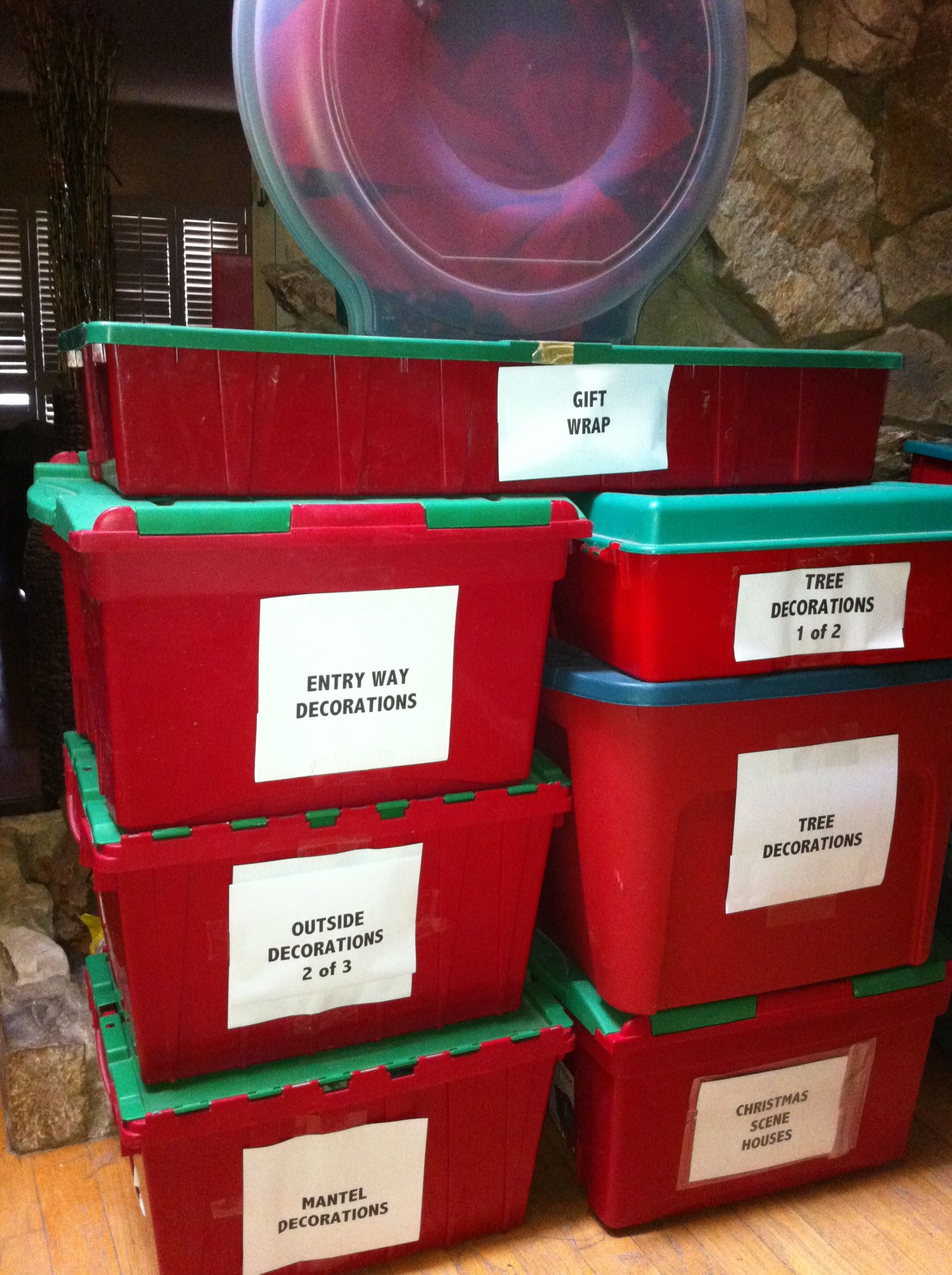 christmas storage containers