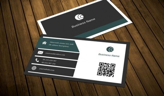 Dark Slate Business Card Template Free Psd