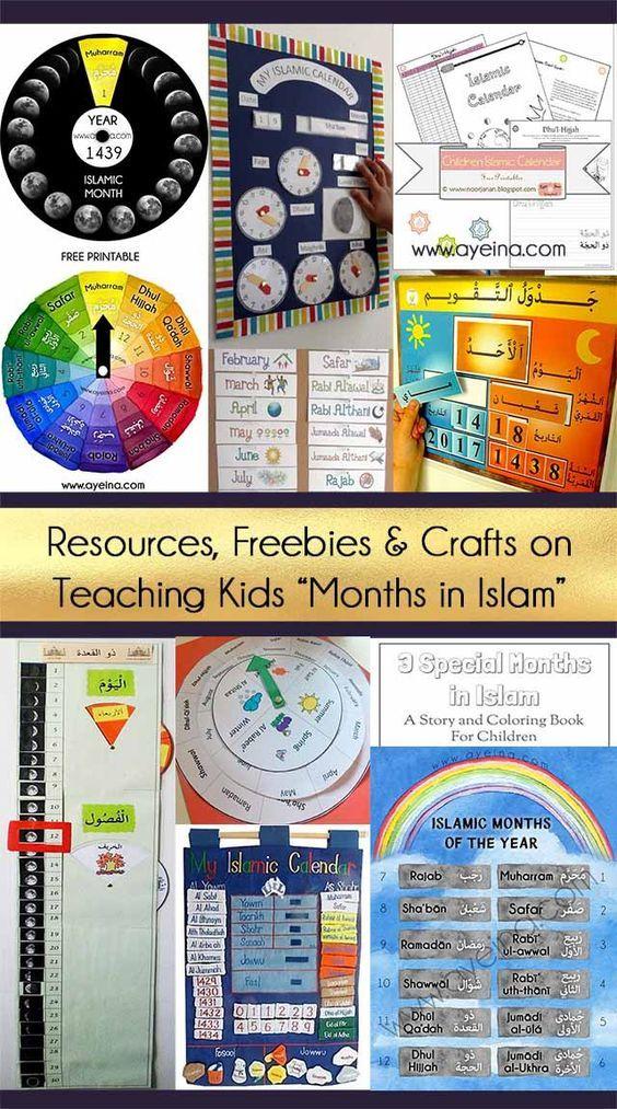How To Teach Kids 12 Months In Islam Ayeina Kids Calendar Islamic Kids Activities Teaching Kids