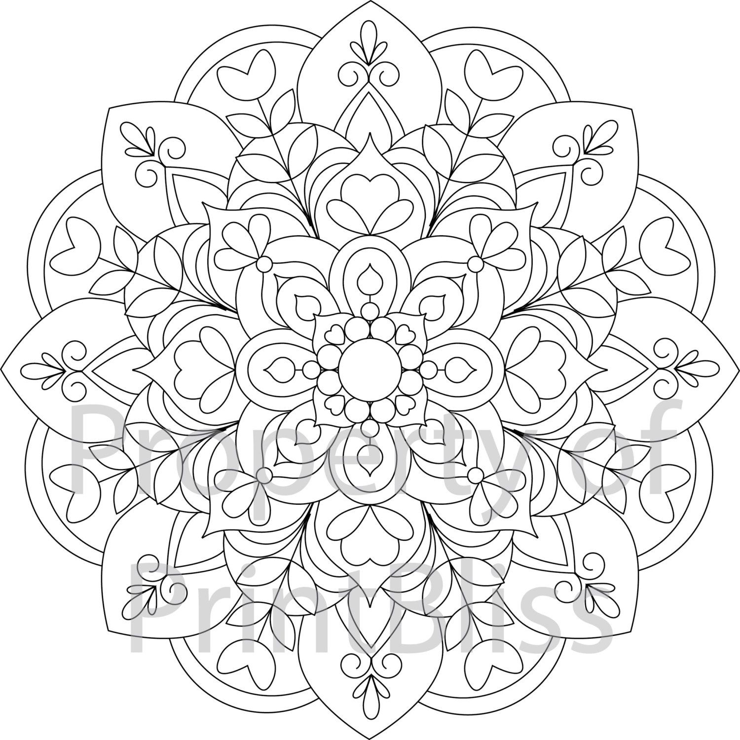 cool mandalas coloring pages | 19. Flower Mandala printable coloring page. by PrintBliss ...