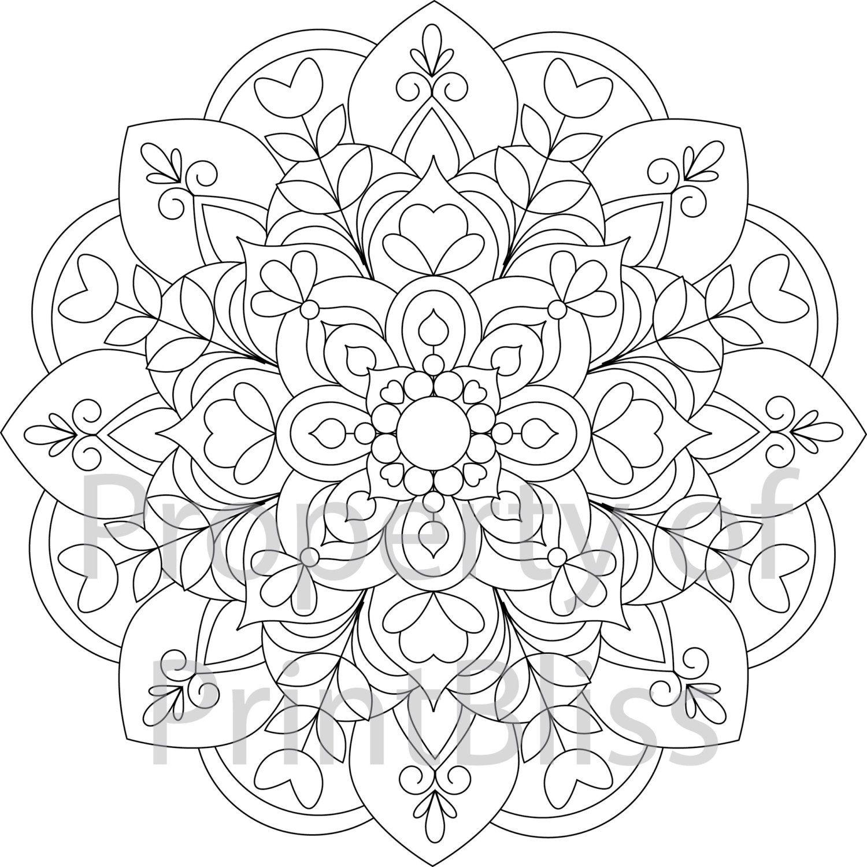 19. Flower Mandala Printable Coloring Page