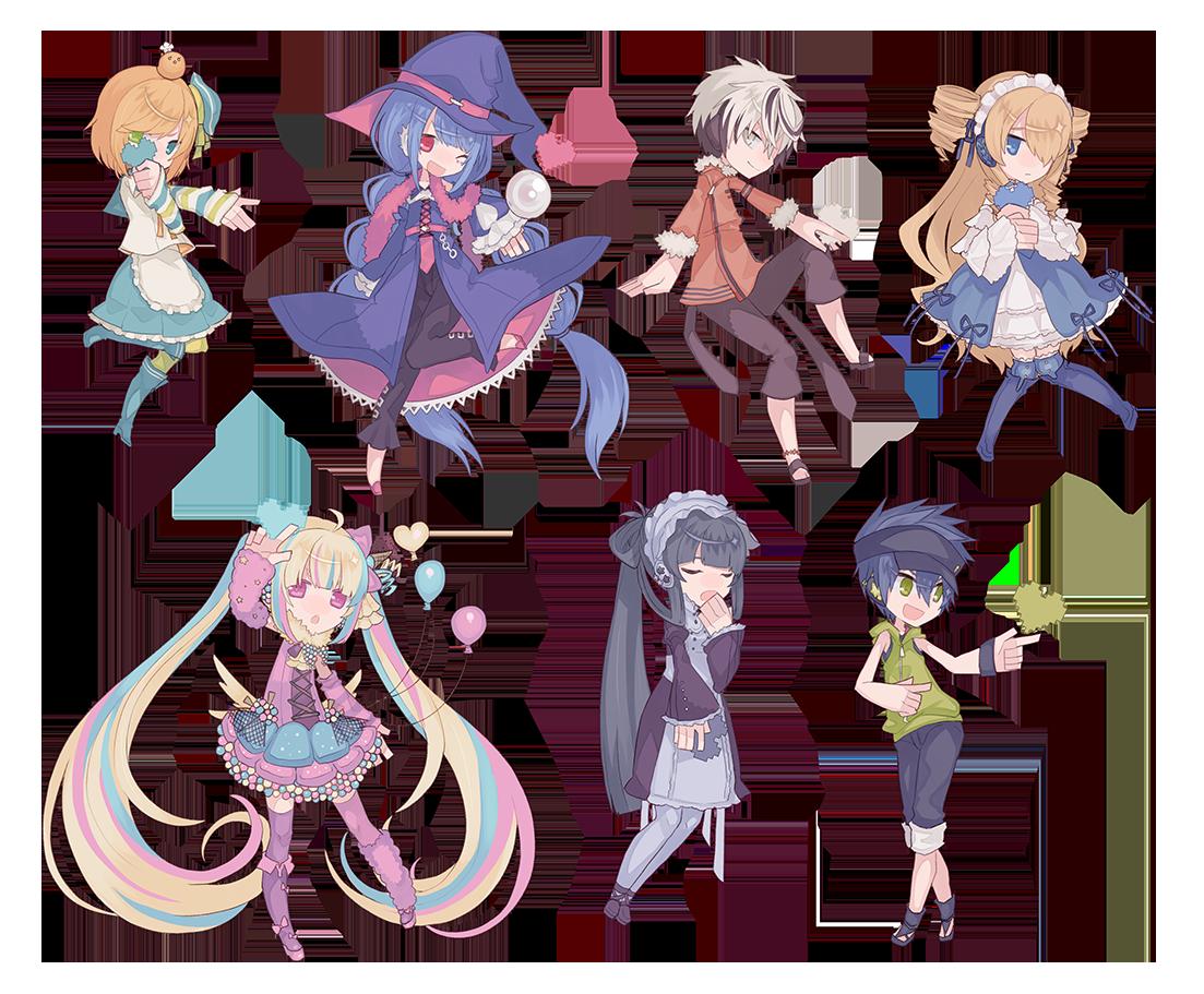 Game Anime Character Design Book : Sweetbeach characters bitheart Ò ω Ó