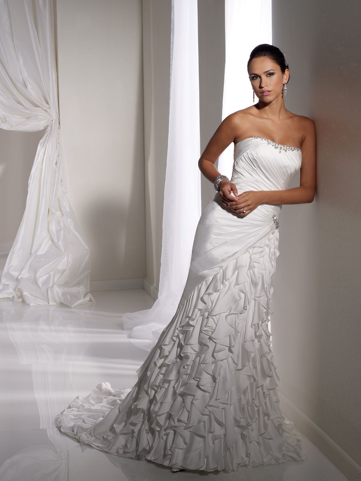 What do you guys think about the ruffles designer wedding dresses