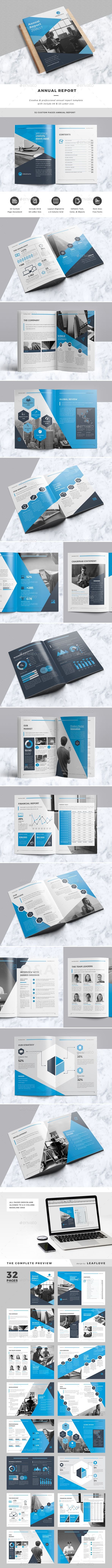 Annual Report Template InDesign INDD. Download here: https ...