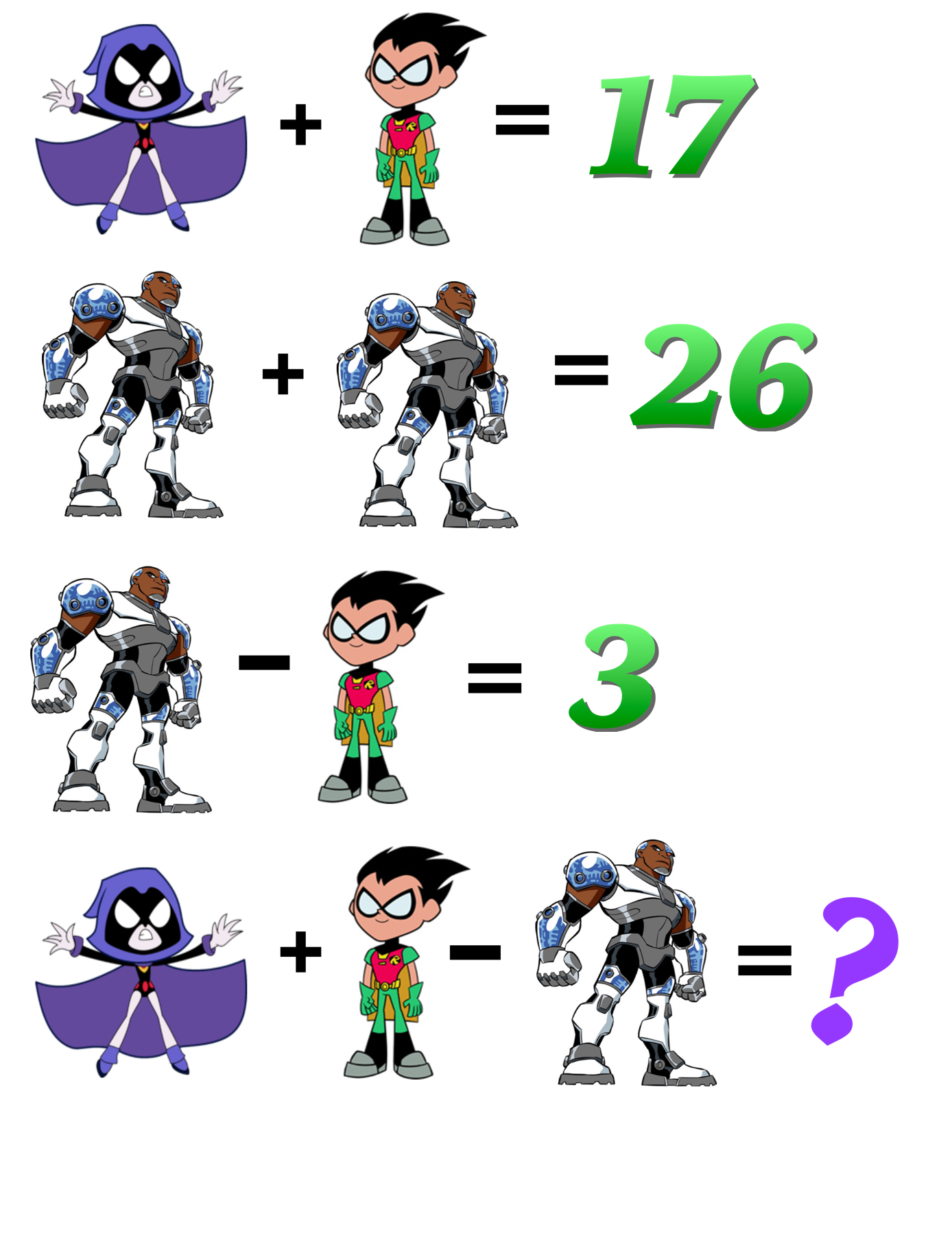 Challenge Questions Mashup Math