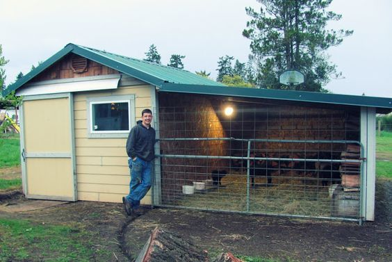 goat shed: