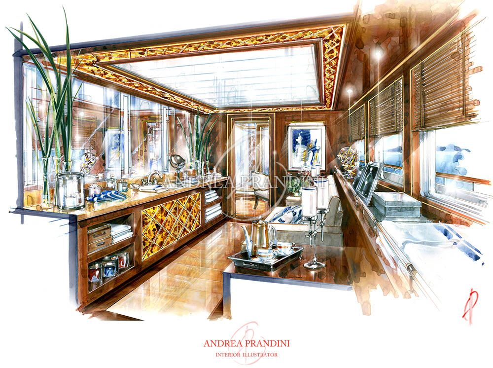 Prandini mobili ~ Adnrea prandini interior perspective sketches