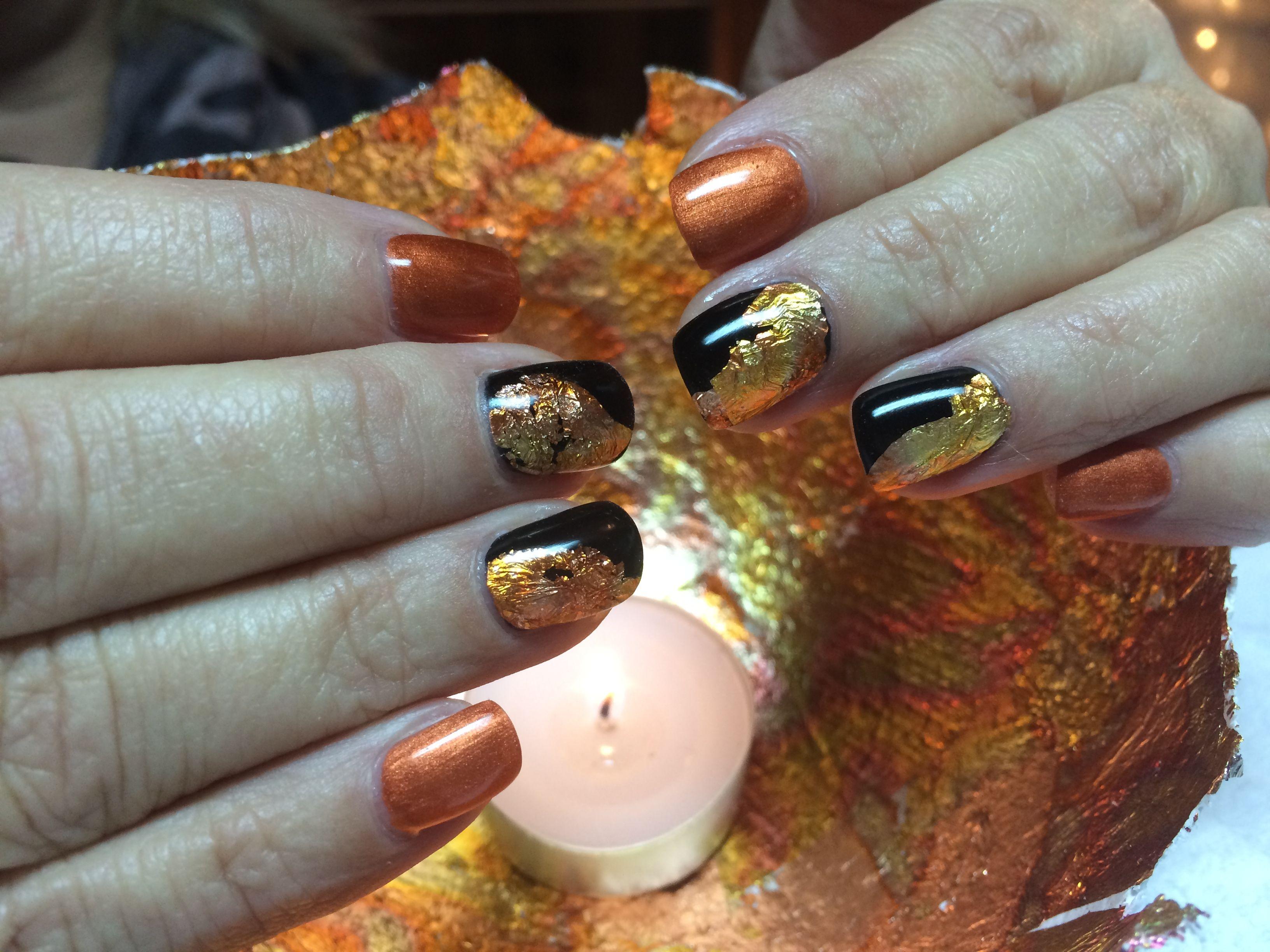 Nagelverstärkung mit Goldfolie   NagelKunst   Pinterest   Nagelkunst