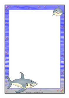 Shark A4 page borders (SB7461) - SparkleBox | Lesson Plans and Ideas