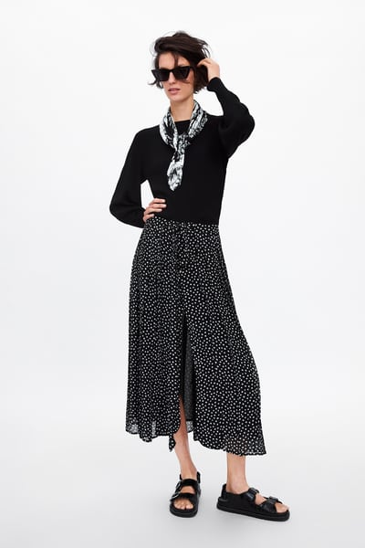 8375366ca5 Pleated polka dot skirt in 2019 | Products | Flowy skirt, Pleated ...