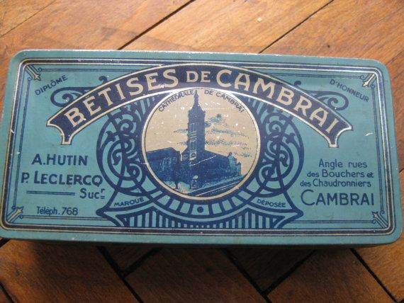 French Antique Candy box - Betises de Cambrai