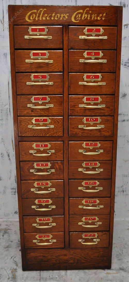 Antique Collectors Cabinets and Museum Cabinets - Oak Collectors Cabinet - Antiques Atlas Organize Pinterest