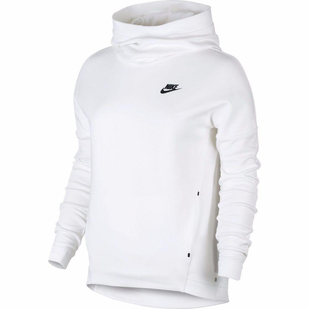 Nike Womens Tech Fleece White Black Pullover Hoodie Jacket 844389 100 Xl Niketechfleeceretrocasualworkout Ho Women Hoodies Sweatshirts Hoodies Womens Hoodies [ 1000 x 1000 Pixel ]