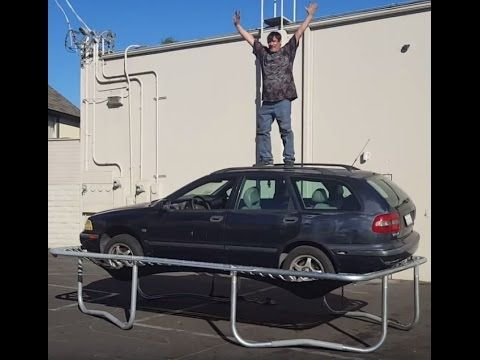 Infinity Trampoline: Car vs Trampoline Weight Test