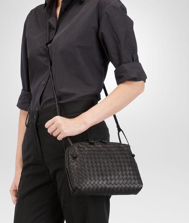 885f5fa061 ESPRESSO INTRECCIATO NAPPA LEATHER NODINI BAG Black Leather Bags