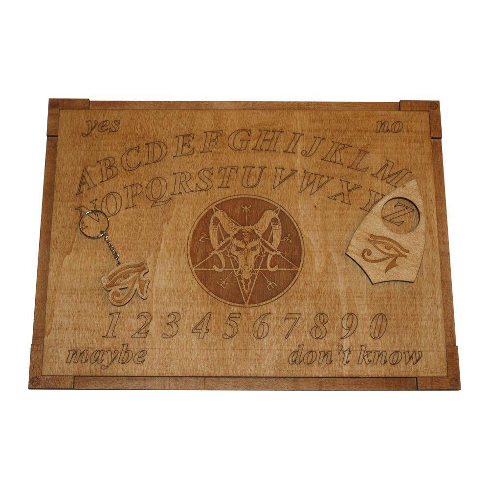 Devil pentagram wooden ouija board and planchette ouija devil and devil pentagram wooden ouija board and planchette buycottarizona Gallery