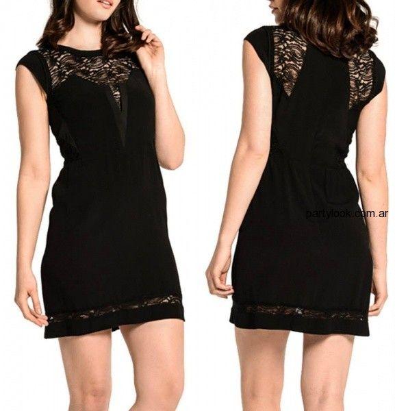 c7b46ed279 MARKOVA – Vestidos de fiesta para señoras y enteritos para el verano 2015 - vestido  negro corto