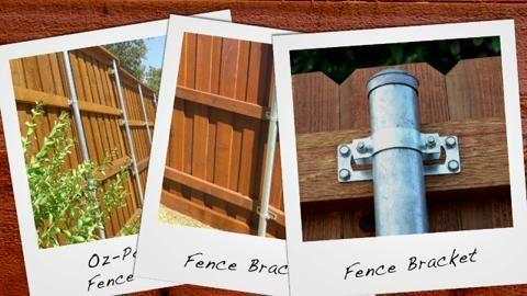 Oz Post Oz Post Steel 2 Wood Fence Bracket Wap Oz 50110
