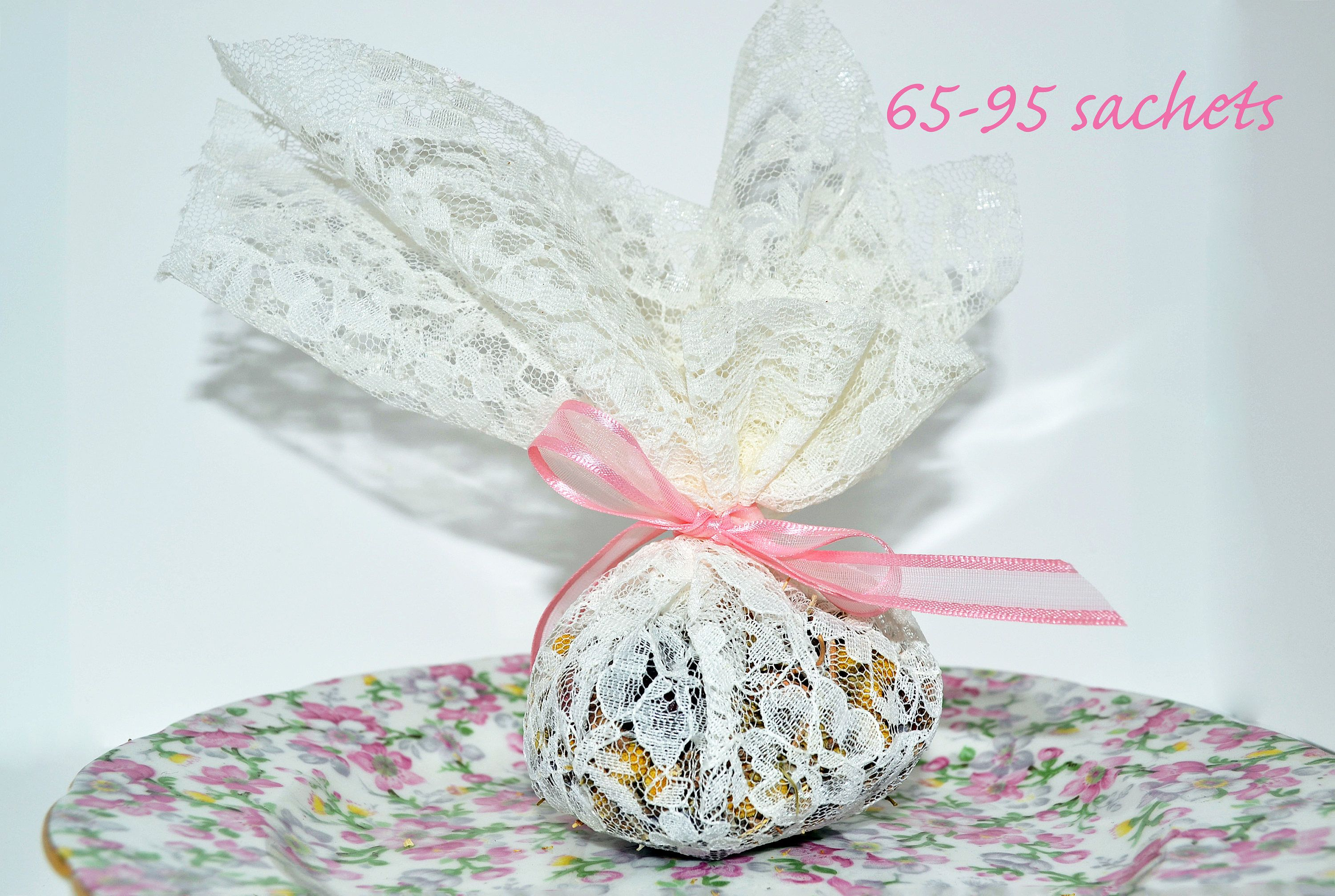 Dried Lavender Potpourri Sachet In Lace Fabric Baby & Bridal