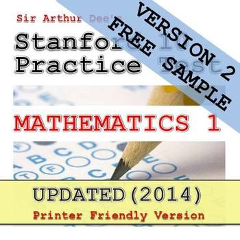 Heres The Link To A Free Sample Of The Stanford 10 Practice Test In